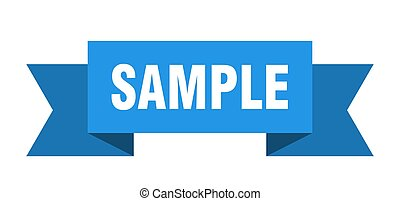 sample ribbon. sample isolated sign. sample banner