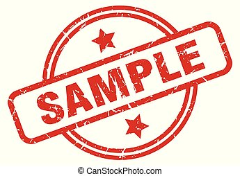 sample round grunge isolated stamp