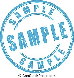 Sample rubber stamp