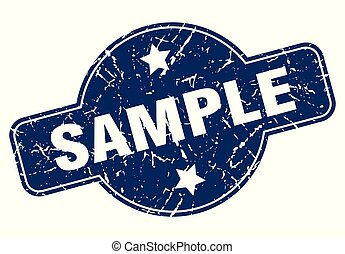 sample sign - sample vintage round isolated stamp