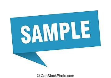 sample speech bubble. sample sign. sample banner