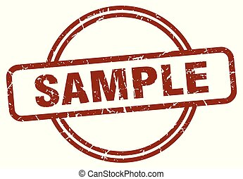 sample stamp isolated on white