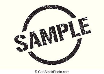 sample stamp - sample black round stamp