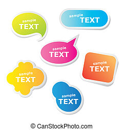 sample-text - Collection of bubbles for speech. Vector