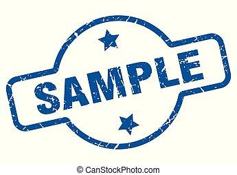 sample vintage stamp. sample sign