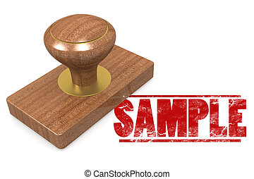 Sample wooded seal stamp