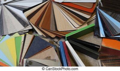 Samples chipboard color