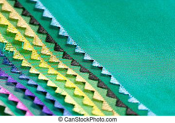 Samples of a fabric.