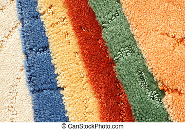 Samples of collection carpet