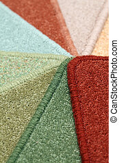 carpet - Samples of color a carpet covering in shop