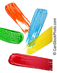 Samples of colorful paint
