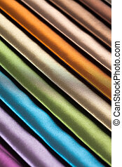 Samples of different colors fabric