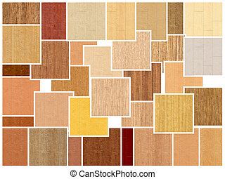 Samples of hardwood floors