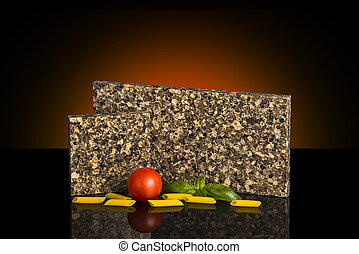 Samples of kitchen granite counter tops