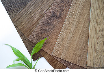 Samples of laminate make a new floor for renovate or new floor in the house or the building or commercial building