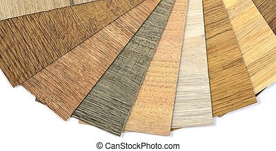 Samples of vinyl and laminate wooden pattern