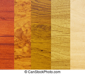 samples of wood coatings