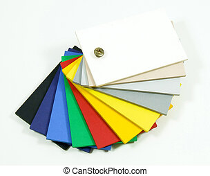 Samples picker - Bunch of plastic color samples picker ...