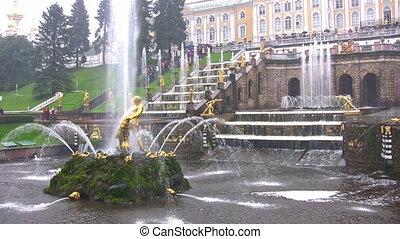Samson and the Lion Fountain, Peterhof, Russia