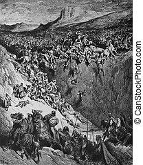 Samson crushes the Philistines