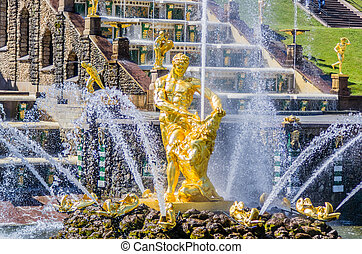 Samson Fountain in Peterhof, Russia
