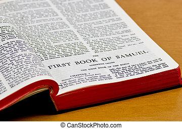 samuel, -, ページ, 聖書