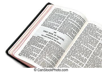samuel, biblia abierta