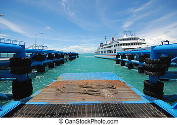 samui ferry boat - wide angle view of samui ferry boat