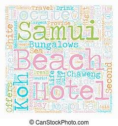 SAMUI ISLAND text background wordcloud concept