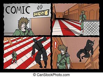 samurai and ninja comic page