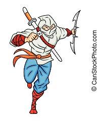 Samurai Cartoon Character