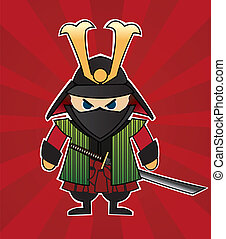 Samurai cartoon illustration