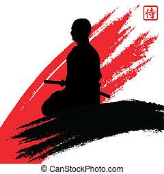 samurai - vector illustration of a samurai