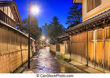 samurai, distrito, de, kanazawa, japão