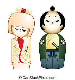 samurai, geisha