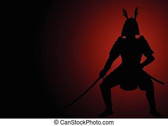 Samurai General Silhouette