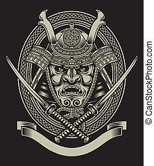 samurai, katana, spada, guerriero