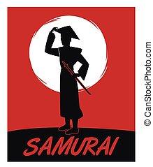 Samurai man cartoon design