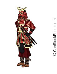 Samurai man cartoon design - Samurai man cartoon with...