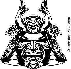 Samurai Mask - A Japanese samurai mask and helmet...