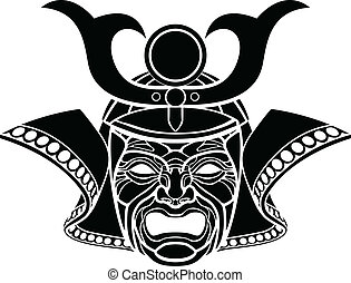 samurai, masker, fearsome