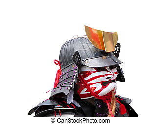 Samurai portrait during a traditional festival in Japan.Aoba...