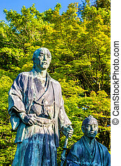 Samurai statue in Maruyama Park, Kyoto