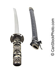 Samurai sword and scabbard - Samurai Sword with wrapped hilt...