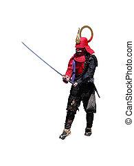 samurai, sword-fighting, posición