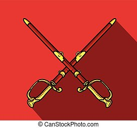 Samurai Swords with Scabbard Vector Illustration