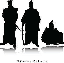 samurai vector silhouettes
