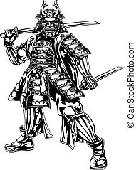 Samurai Warrior - An illustration of a Japanese samurai...