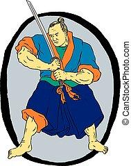 samurai-warrior-fight-stance-enso-circ-dwg