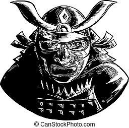 Samurai-warrior-mask-WC-BW